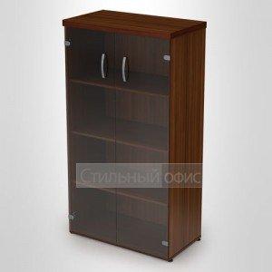 Шкаф средний со стеклом и топом 4Ш.007 4ТП.001 Алсав