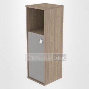 Шкаф средний узкий полузакрытый со стеклом Л.СУ-2.2