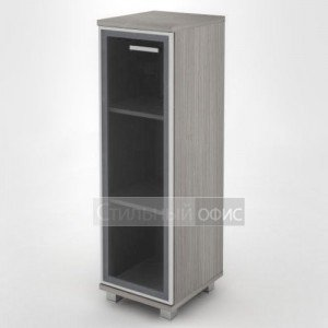 Шкаф узкий средний с алюминевым фасадом