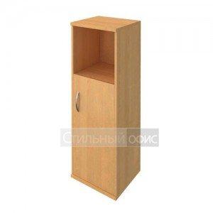 Шкаф средий узкий с деревянной дверкой