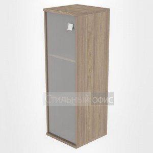 Шкаф средний узкий закрытый со стеклом Л.СУ-2.4