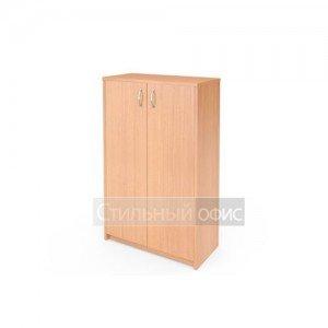 Шкаф средний закрытый с деревянными дверками