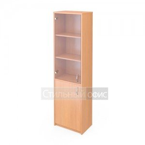 Шкаф узкий со стеклянной прозрачной дверкой