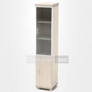 Шкаф узкий со стеклом в алюминиевой рамке К94
