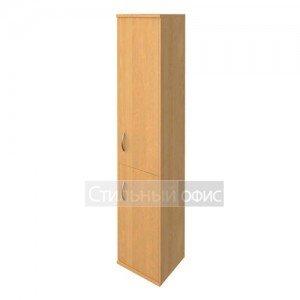 Шкаф узкий закрытый с деревянными дверками