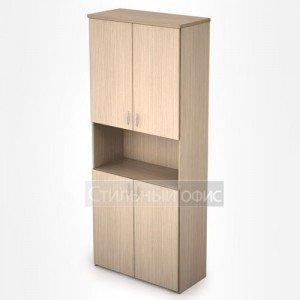 Шкаф в офис полузакрытый с нишей