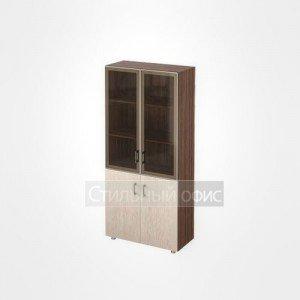 Шкаф витрина в кабинет руководителя 44.46 темный Сенатор