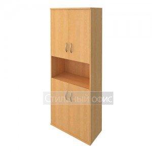 Шкаф высокий полузакрытый с деревянными дверками