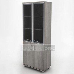 Шкаф широкий высокий с алюминевым фасадом