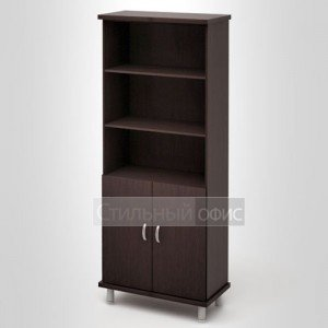 Шкаф высокий широкий с низкими дверками