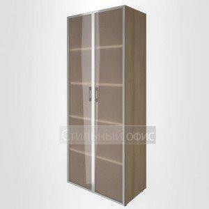 Шкаф высокий широкий с высокими стеклянными дверьми LT-ST 1.10R Riva