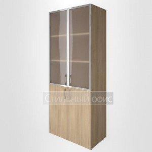 Шкаф высокий широкий со стеклом в алюминевой раме LT-ST 1.2R Riva