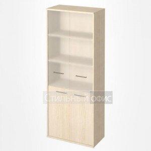 Шкаф высокий широкий со стеклянными дверками KST-1.2 Riva