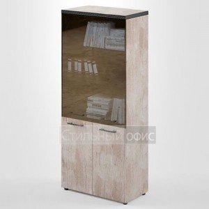 Шкаф высокий широкий со стеклянными дверками THC 85.2 Skyland