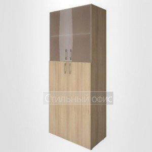 Шкаф высокий широкий со средними дверками и стеклом LT-ST 1.7 Riva