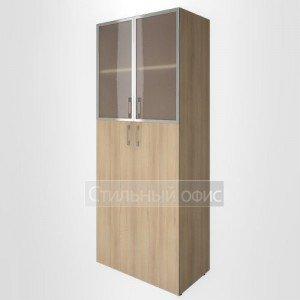 Шкаф высокий со средними дверками и стеклом в раме LT-ST 1.7R Riva