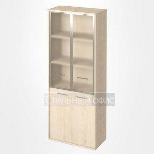 Шкаф высокий широкий со стеклом в рамке KST-1.2R Riva