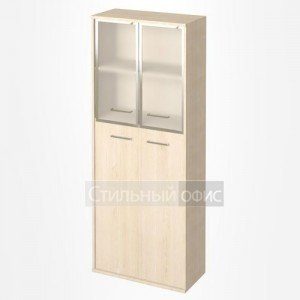 Шкаф высокий широкий со стеклянными дверками KST-1.7R Riva