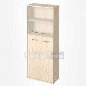 Шкаф высокий широкий со стеклянными дверками KST-1.7 Riva