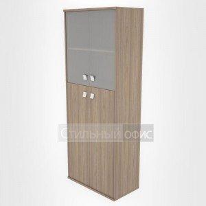 Шкаф высокий широкий закрытый со стеклом