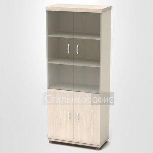 Шкаф высокий со стеклянными дверками К85