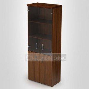 Шкаф высокий со стеклом и топом 4Ш.010 4ТП.001 Алсав