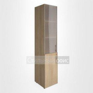 Шкаф высокий узкий с низкой дверкой и стеклом для руководителя LT-SU 1.2 L/R Riva