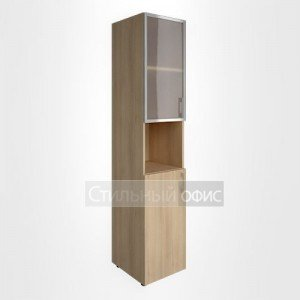 Шкаф узкий с низкой дверкой и стеклом в алюминевой раме LT-SU 1.4R L/R Riva