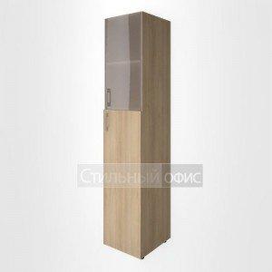 Шкаф высокий узкий со средней дверкой и стеклом LT-SU 1.7 L/R Riva