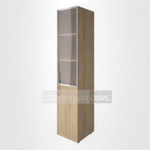 Шкаф высокий узкий с низкой дверкой и стеклом в алюминевой раме LT-SU 1.2R L/R Riva