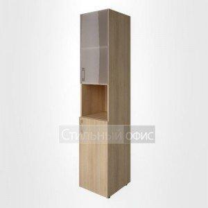 Шкаф узкий с низкой дверкой и стеклом для руководителя LT-SU 1.4 L/R Riva