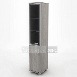 Шкаф узкий высокий с алюминевым фасадом