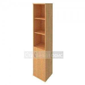 Шкаф высокий узкий с деревянной дверкой