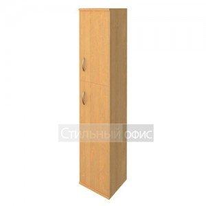 Шкаф высокий узкий с деревянными дверками