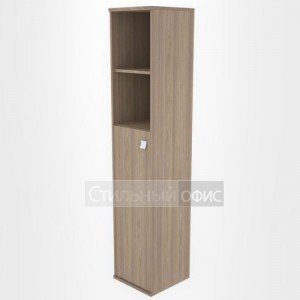 Шкаф высокий узкий со средней дверкой Л.СУ-1.6 Riva