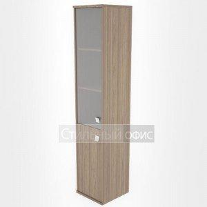 Шкаф высокий узкий со стеклянной дверкой Л.СУ-1.2 Riva