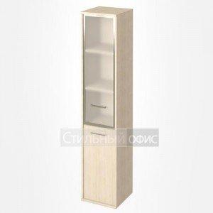 Шкаф высокий узкий со стеклом в рамке KSU-1.2R Лев/Пр