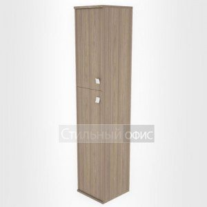 Шкаф высокий узкий закрытый с 2 дверками Л.СУ-1.8