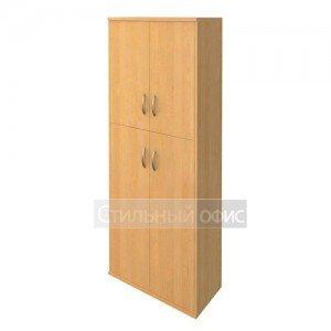 Шкаф высокий закрытый с деревянными дверками