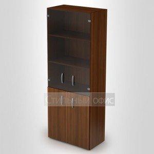 Шкаф высокий закрытый со стеклом 4Ш.010