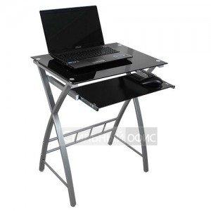 Стеклянный компьютерный стол на металлокаркасе GD-003