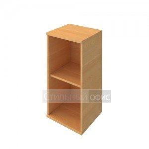Стеллаж низкий узкий деревянный в офис