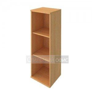 Стеллаж средний узкий деревянный в офис