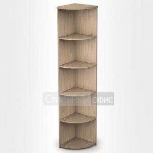 Стеллаж в офис деревянный высокий угловой