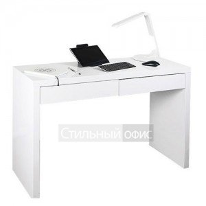 Стол для компьютера белый с ящиками DL-HG002