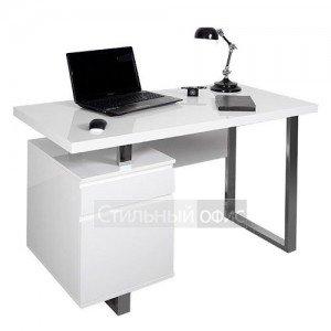 Стол для компьютера белый с тумбой DL-HG003