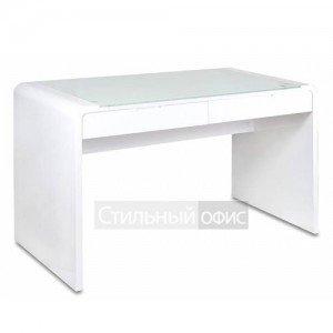 Стол для компьютера белый со стеклом DL-HG006
