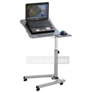 Стол для ноутбука на роликах серый LT-001