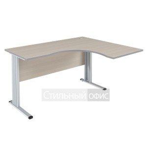 Стол эргономичный правый на металлокаркасе для персонала ПЛ.СА-3 Пр + А.ВТ-710 Riva