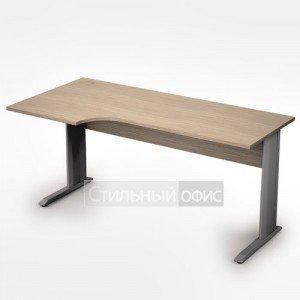 Стол на металлических опорах криволинейный левый длинный